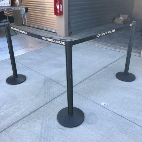 2 PCS Retractable Crowd Control Belts Barriers Beltrac Lavi Industries MadeinUSA