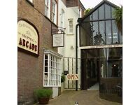 Unit available to rent for office /retail in a Victorian themed shopping arcade in Arundel