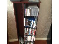 DVD storage with shelving