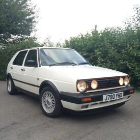 VW Golf MK2 GTI 8V 1991 (J) Original 5 Door Alpine White Classic 6 Months MOT
