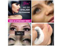 Eyelashes extension 3D rusian volume, American, Noveau Lashes