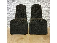 2x Fabric Dining/Bedroom Chairs