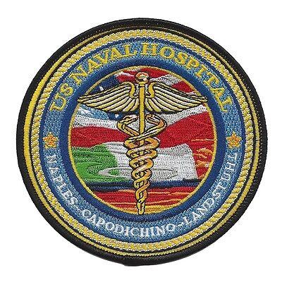 US Naval Hospital NAPLES CAPODICHINO LANDSTUHL Military Patch - Navy