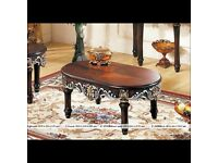 classic traditional hand crafted coffee table