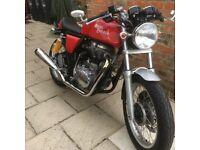 2013 Royal Enfield Continental GT cafe racer, very low miles in fantastic condition.