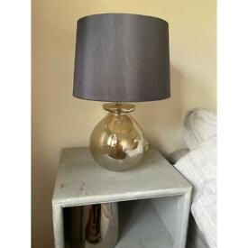 Glass lamp and shade