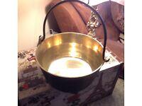 Vintage preserving pan copper lined, excellent condition