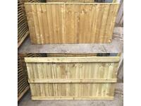 🍁Pressure Treated Heavy Duty Straight Top Feather Edge Wooden Garden Fence Panels