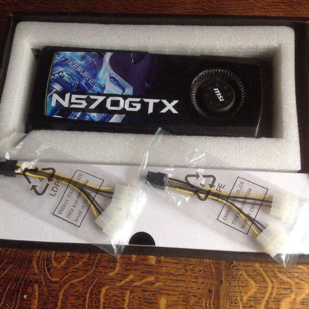 MSI NVIDIA GEFORCE 570 GTX 1.25gb GDDR5