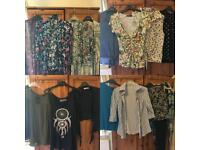 HUGE bundle of women's size 8-12 clothes 60+ items plus freebies