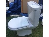 Toilet white ceramic,