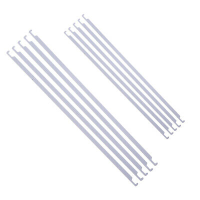 5x Durable Metal Hanging File Folders Bar Rod For Office Home School White
