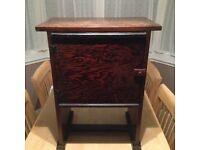 Dark wood, bedside cabinet
