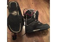 Black Vans snowboard boots size 6