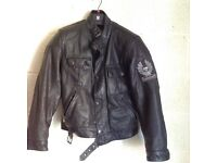 Belstaf motorbike leather jacket, with Built in shoulder & elbow padding.