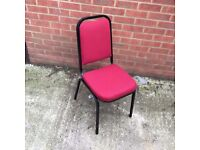 151 Red Banqueting Chairs for Church, Wedding etc