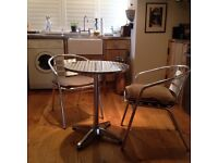 Aluminium Bistro table and chair set
