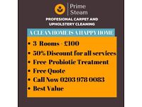 Amazing Offer - 3 Rooms for £100 or 50% discount on all our Services - Best Value