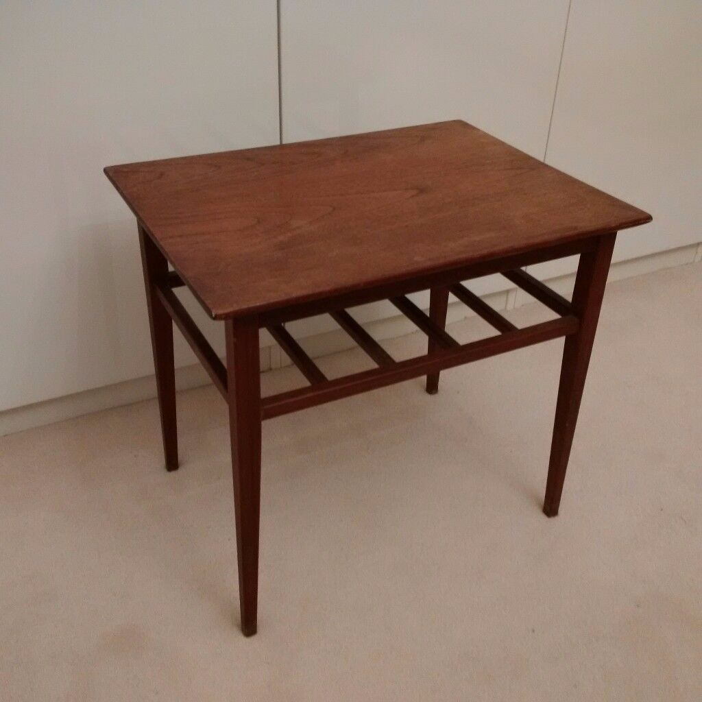 beautiful and elegant small solid hardwood side table