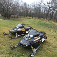 HIS AND HERS SKIDOOS MINT MINT