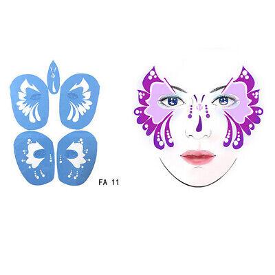 5pcs / ensemble Body Art Eye Face Pochoirs Modèle pour Halloween Maquillage (Maquillage Pour Halloween)