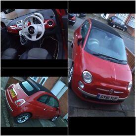 Fiat 500c-RED-2011-Petrol = QUICK SALE