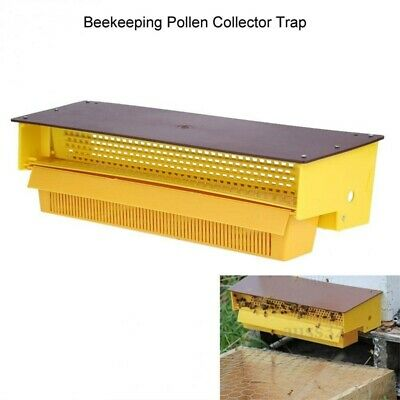 Plastic Bee Pollen Trap Collector For Apiculture Beekeeping Tool Beehive Yellow