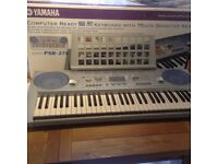 Yamaha PSR 275 computer ready keyboard with touch sensitive keys