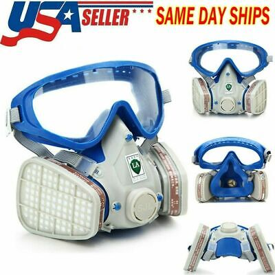 Full Face Gas Mask Facepieces Respirator Painting Spraying With Filter Breathing