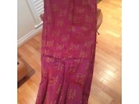 Excellent condition lined Silk Bay or Regular window curtains.