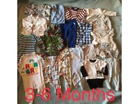 Bundle of Baby Clothes 3- 6 months Sleepsuits, Bodysuits, Disney Jumper, Hoody, Shirts and Tops