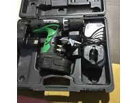 Hitachi 18v cordless hammer drill DV18VC2 2 batteries