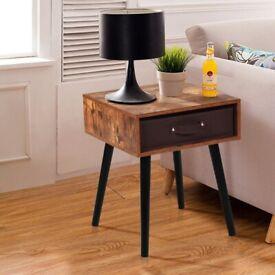 Modern Bedside Table Storage Cabinet Nightstand HW64405CF