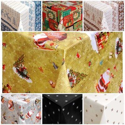 Wachstuch Tischdecken abwaschbar mit Fleecerücken Weihnachten Nikolaus XMAS Fest