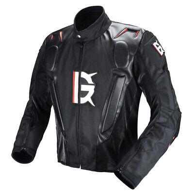 Motorrad Schutzkleidung Jacken Motorradjacke mit Protektoren für Rennen L
