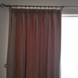 Fully lined, lead weighted curtains