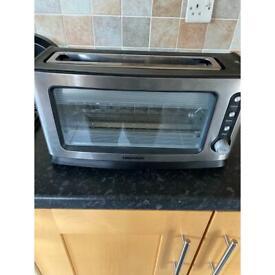 Daewoo SDA1060 Glass Toaster, 18/10 Steel, 900 W