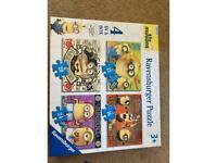 X 4 minion puzzles