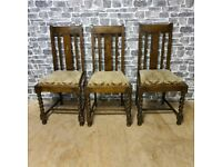 2x Brown Vintage Chairs