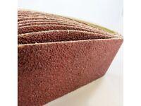 Brand New 10x Sanding Belts 75 x 457 mm Grit 24 - 100 abrasive, sandpaper endless sander wood metal