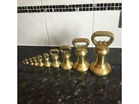 Old brass butchers weights