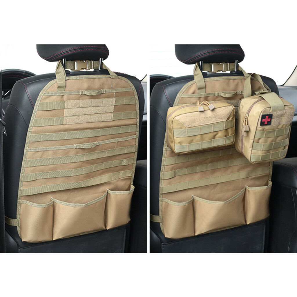 Seat Back Organizer Tactical Molle Seat Covers Car Protector Hunting SUV US Hunting