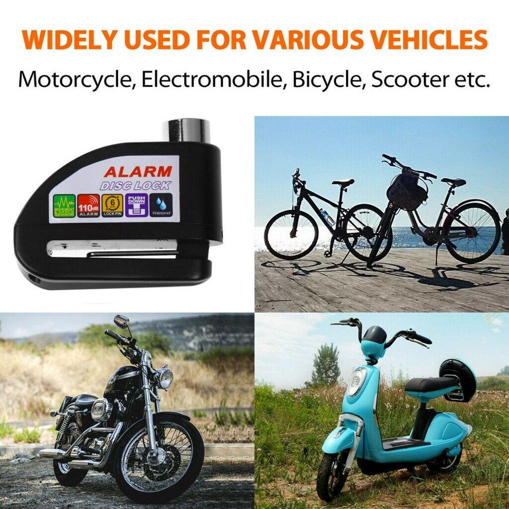 Anti-theft Wheel Disc Brake Lock Security Alarm Fit Motorcycle Bicycle Bike