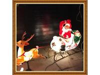 Santa and reindeer sleigh