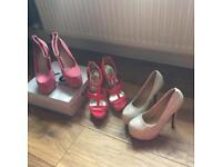 3 pairs of unworn high heels