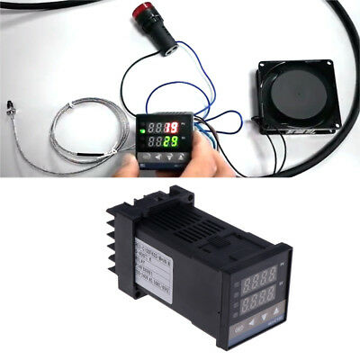 Pid Digital Temperature Controller Rex-c100m 0 To 400c K Type Relay Output