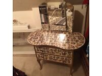 Vintage wardrobe and dressing table