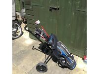 Junior golf set..clubs bag and trolley..great condition..collect Evesham