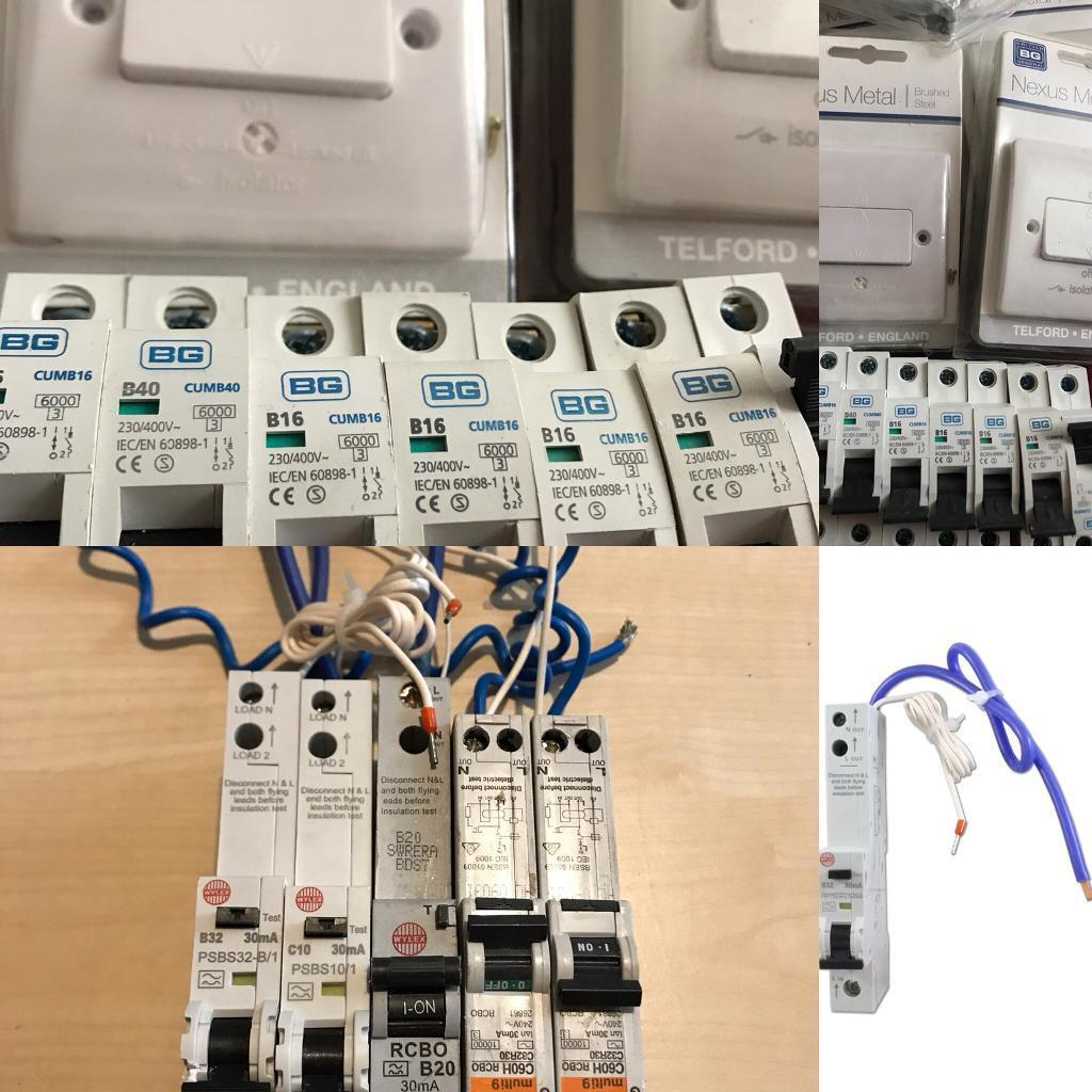 Electric Circuit Breakersisolator Switches Job Lot Great Buy For Electrical Wiring And Breakers Electrician Electricians