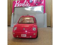 Barbie Volkswagon Beetle car, excellent condition. Doors and back open, labels